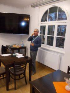 DGS-Fachwart Holger Mende bei Ansprache